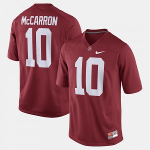 Bama #10 Men's A.J. McCarron Jersey Crimson Official Alumni Football Game 160146-834