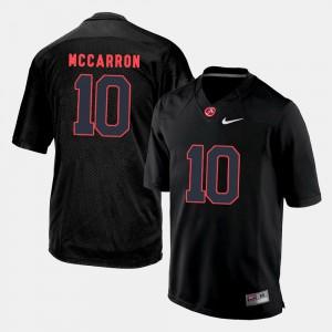 Bama #10 Men A.J. McCarron Jersey Black College Football High School 280792-321