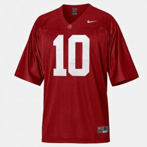 Alabama Roll Tide #10 For Kids A.J. McCarron Jersey Red Official College Football 816254-600