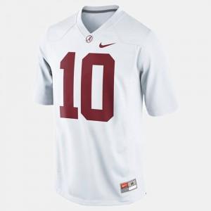 Bama #10 Kids A.J. McCarron Jersey White College Football Stitched 281505-650