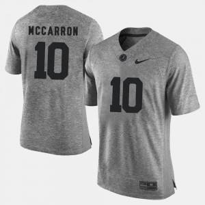University of Alabama #10 For Men A.J. McCarron Jersey Gray Gridiron Limited Gridiron Gray Limited Stitch 189202-360