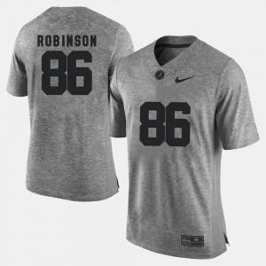 Bama #86 Mens A'Shawn Robinson Jersey Gray Gridiron Limited Gridiron Gray Limited Alumni 456388-169
