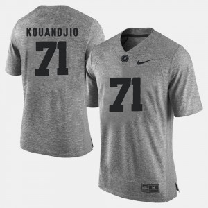 Roll Tide #71 For Men's Arie Kouandjio Jersey Gray Player Gridiron Gray Limited Gridiron Limited 397784-446