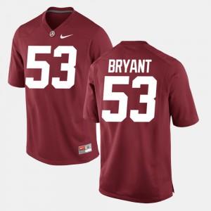 Alabama #53 Mens Bear Bryant Jersey Crimson Player Alumni Football Game 875297-253