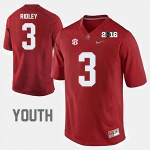 University of Alabama #3 Youth Calvin Ridley Jersey Crimson High School College Football 312176-330
