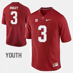 University of Alabama #3 Kids Calvin Ridley Jersey Red University College Football 366111-590