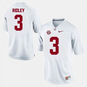 Alabama Crimson Tide #3 For Men Calvin Ridley Jersey White Official College Football 269643-407