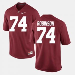 Bama #74 Men's Cam Robinson Jersey Crimson NCAA Alumni Football Game 265432-337