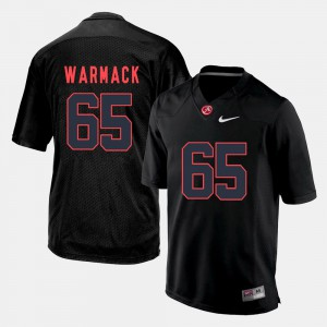 Alabama Roll Tide #65 Mens Chance Warmack Jersey Black Embroidery Silhouette College 670159-753
