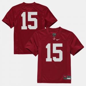 Roll Tide #15 For Kids Jersey Crimson High School College Football 932742-574