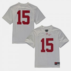 Bama #16 Youth Jersey White Stitched College Football 398448-691