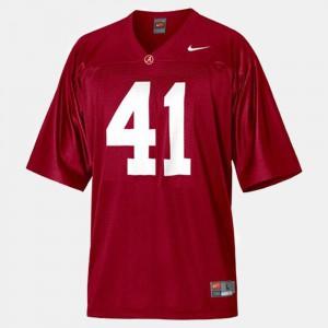 Alabama Crimson Tide #41 Youth(Kids) Courtney Upshaw Jersey Red College Football University 675412-169