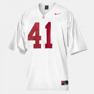 Alabama Crimson Tide #41 For Kids Courtney Upshaw Jersey White College Football Embroidery 604368-954