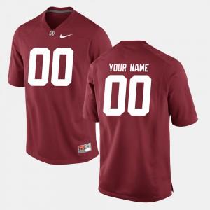 Alabama Roll Tide #00 Men Customized Jerseys Crimson High School College Football 631762-755