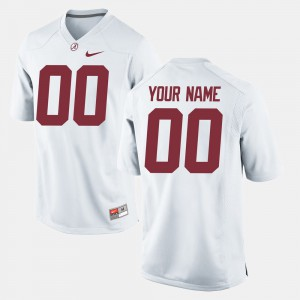 Alabama Roll Tide #00 Men Customized Jersey White University College Football 530517-595