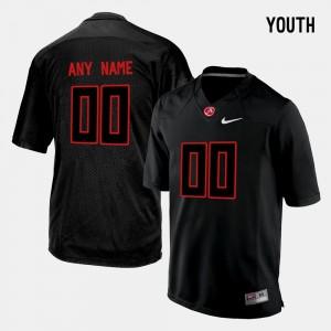 Roll Tide #00 Youth(Kids) Custom Jerseys Black College Limited Football NCAA 742197-673