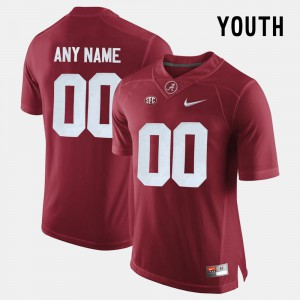Alabama Roll Tide #00 For Kids Customized Jerseys Crimson Official College Limited Football 745979-288