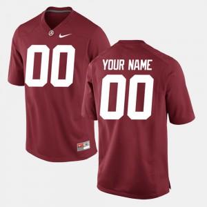Bama #00 Men Custom Jerseys Crimson Embroidery College Limited Football 505411-663