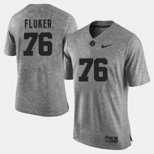 Bama #76 Men D.J. Fluker Jersey Gray NCAA Gridiron Limited Gridiron Gray Limited 803850-369