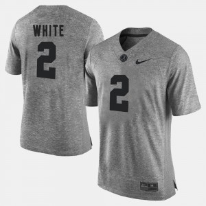 Alabama Roll Tide #2 Mens DeAndrew White Jersey Gray Gridiron Limited Gridiron Gray Limited College 228772-618