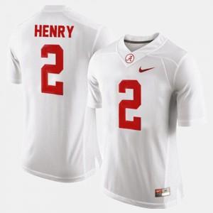 Roll Tide #2 Men's Derrick Henry Jersey White College Football NCAA 891439-523