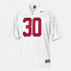 Alabama Roll Tide #30 For Men's Dont'a Hightower Jersey White Stitch College Football 732669-975