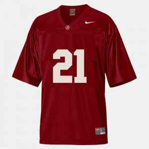 Bama #21 For Men's Dre Kirkpatrick Jersey Red Stitch College Football 417374-677