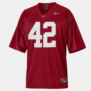 Bama #42 Men's Eddie Lacy Jersey Red College Football Official 703743-486