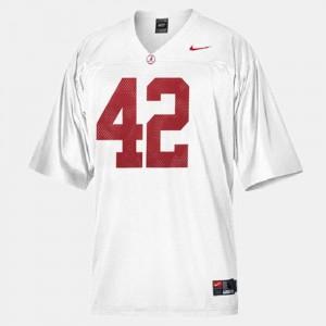 Alabama Crimson Tide #42 For Men Eddie Lacy Jersey White Stitch College Football 432190-117