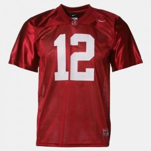 Bama #12 For Men Joe Namath Jersey Red College Football Stitched 736262-442