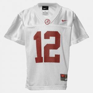 University of Alabama #12 Youth(Kids) Joe Namath Jersey White College Football Player 746510-232