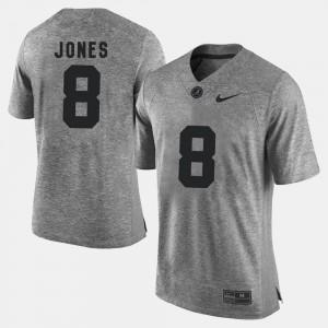 Bama #8 For Men Julio Jones Jersey Gray Gridiron Limited Gridiron Gray Limited College 960072-897
