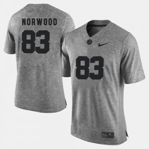 Alabama Crimson Tide #83 For Men Kevin Norwood Jersey Gray College Gridiron Gray Limited Gridiron Limited 640465-519