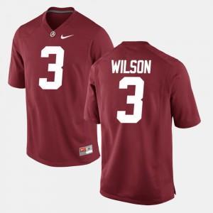 University of Alabama #3 Mens Mack Wilson Jersey Crimson High School Alumni Football Game 525359-946