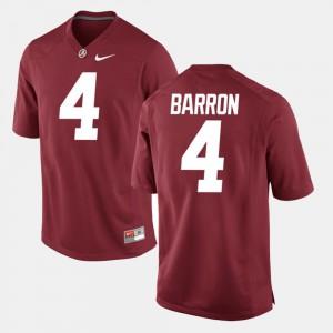 Alabama Roll Tide #4 Men Mark Barron Jersey Crimson College Alumni Football Game 877662-318