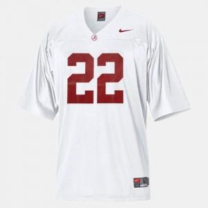 Bama #22 For Men Mark Ingram Jersey White College College Football 306056-116