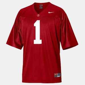 Alabama Roll Tide #1 Youth Nick Saban Jersey Red College College Football 808393-757