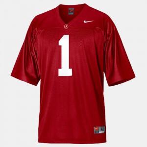 University of Alabama #1 For Men's Nick Saban Jersey Red College Football Alumni 624507-902