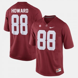 Bama #88 Men's O.J. Howard Jersey Red College College Football 591928-887