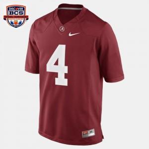 Alabama Crimson Tide #4 For Men's T.J. Yeldon Jersey Red NCAA College Football 581598-515