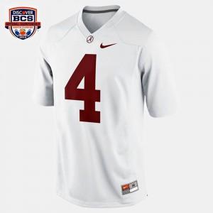 Bama #4 For Kids T.J. Yeldon Jersey White High School College Football 790347-663