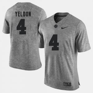 Alabama #4 Mens T.J. Yeldon Jersey Gray Stitch Gridiron Gray Limited Gridiron Limited 939314-625