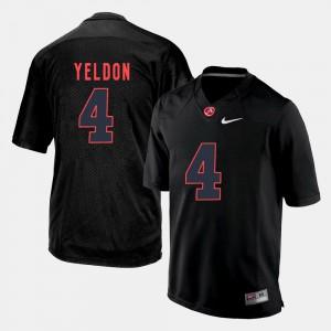 Bama #4 Mens T.J. Yeldon Jersey Black NCAA Silhouette College 166558-168