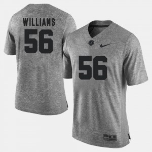 Bama #56 For Men Tim Williams Jersey Gray Stitch Gridiron Gray Limited Gridiron Limited 554293-563