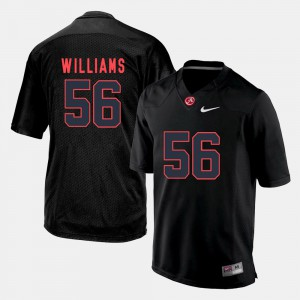 Bama #56 For Men's Tim Williams Jersey Black Silhouette College Player 738965-406