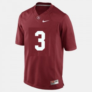 Bama #3 Youth(Kids) Trent Richardson Jersey Red Embroidery College Football 956408-609