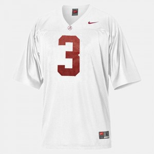 Alabama #3 Men Trent Richardson Jersey White High School College Football 876263-495