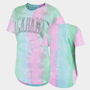 University of Alabama Ladies T-Shirt Rainbow College Bay Tie Dye 360844-502