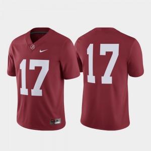 University of Alabama #17 Men Jersey Crimson University College Football Game 716852-513