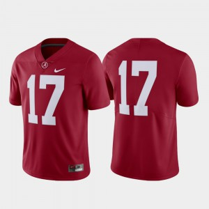 Alabama #17 For Men Jersey Crimson Embroidery Limited College Football 158554-691